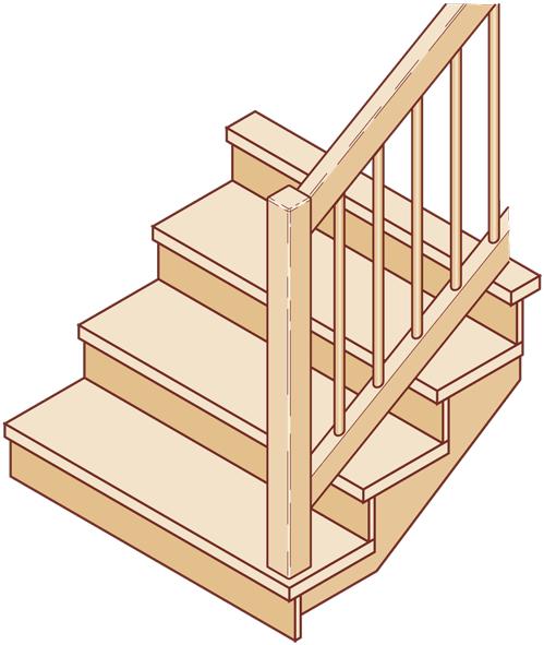 "Aufgesattelte Treppe ""geschlossen"""